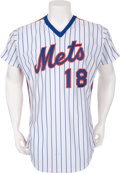 Baseball Collectibles:Uniforms, 1985 Daryl Strawberry Game Worn New York Mets Jersey....
