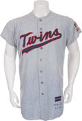 Baseball Collectibles:Uniforms, 1963 Floyd Baker Game Worn Minnesota Twins Jersey....