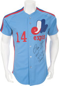 Baseball Collectibles:Uniforms, 1984 Pete Rose Game Worn Montreal Expos Jersey....