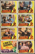 "Movie Posters:Drama, A Man to Remember (RKO, 1938). Lobby Card Set of 8 (11"" X 14"").Drama.. ... (Total: 8 Items)"