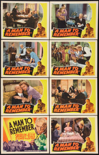 """A Man to Remember (RKO, 1938). Lobby Card Set of 8 (11"""" X 14""""). Drama. ... (Total: 8 Items)"""