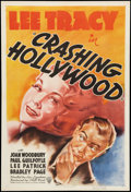 "Movie Posters:Comedy, Crashing Hollywood (RKO, 1938). One Sheet (27"" X 41""). Comedy.. ..."