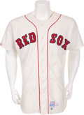 Baseball Collectibles:Uniforms, 1979 Ted Williams Game Worn & Signed Old Timers Day Jersey....