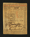 Colonial Notes:Pennsylvania, Pennsylvania October 1, 1773 50s Extremely Fine.. ...