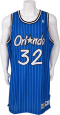 Basketball Collectibles:Uniforms, 1994-95 Shaquille O'Neal Game Worn Orlando Magic Jersey....