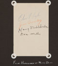 Football Collectibles:Others, Circa 1940's Four Horseman of Notre Dame Multi Signed Sheet....