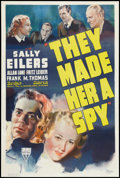 """Movie Posters:Thriller, They Made Her a Spy (RKO, 1939). One Sheet (27"""" X 41""""). Thriller.. ..."""