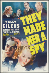 """They Made Her a Spy (RKO, 1939). One Sheet (27"""" X 41""""). Thriller"""