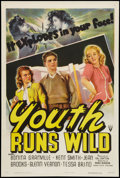 "Movie Posters:Exploitation, Youth Runs Wild (RKO, 1944). One Sheet (27"" X 41""). Exploitation.. ..."