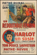 """Movie Posters:Adventure, Rin-Tin-Tin/Charlie Chaplin (Pathe, 1920s). Special French Affiche(31.75"""" X 47.5""""). Serial.. ..."""