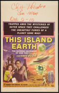 """Movie Posters:Science Fiction, This Island Earth (Universal International, 1955). Window Card (14""""X 22""""). Science Fiction.. ..."""
