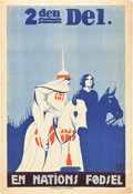 "Movie Posters:Drama, The Birth of a Nation (David W. Griffith Corp., 1915). Danish OneSheet (24"" X 35.5"").. ..."
