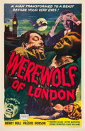 "Movie Posters:Horror, Werewolf of London (Realart, R-1951). One Sheet (27"" X 41"").. ..."
