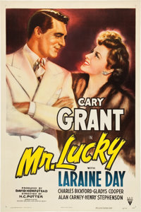 "Mr. Lucky (RKO, 1943). One Sheet (27"" X 41"")"