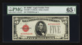 Small Size:Legal Tender Notes, Fr. 1530* $5 1928E Legal Tender Note. PMG Gem Uncirculated 65 EPQ.. ...