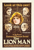 """Movie Posters:Mystery, The Lion Man (Universal, 1919). One Sheet (27"""" X 41"""").. ..."""