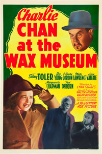 "Charlie Chan at the Wax Museum (20th Century Fox, 1940). One Sheet (27"" X 41"")"
