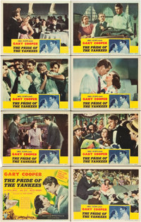 """The Pride of the Yankees (RKO, 1942). Lobby Card Set of 8 (11"""" X 14""""). ... (Total: 8 Items)"""