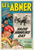 "Movie Posters:Animated, Li'l Abner Cartoon (Columbia, 1944). One Sheet (27"" X 41"") ""Sadie Hawkins' Day."". ..."