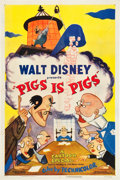 "Movie Posters:Animation, Pigs is Pigs (RKO, 1954). One Sheet (27"" X 41"").. ..."