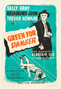 "Movie Posters:Mystery, Green for Danger (Eagle Lion, 1946). British One Sheet (27"" X40"").. ..."