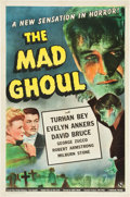 """Movie Posters:Horror, The Mad Ghoul (Universal, 1943). One Sheet (27"""" X 41"""").. ..."""