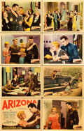"Movie Posters:Drama, Arizona (Columbia, 1931). Lobby Card Set of 8 (11"" X 14"").. ... (Total: 8 Items)"