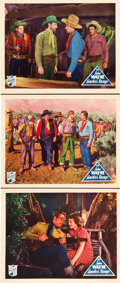 "Movie Posters:Western, Lawless Range (Republic, 1935). Lobby Cards (3) (11"" X 14"").. ...(Total: 3 Items)"
