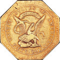 Territorial Gold, 1852 $50 Assay Office Fifty Dollar, 900 Thous. VF30 PCGS. K-14, High R.5....