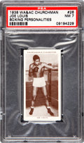 Boxing Cards:General, 1938 WA & AC Churchman Joe Louis #26 PSA NM 7....