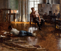 JOHN KOCH (American, 1909-1978) Father and Son, 1955 Oil on canvas 30 x 36 inches (76.2 x 91.4 cm
