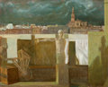 Fine Art - Painting, American:Contemporary   (1950 to present)  , BEN KAMIHIRA (American, b. 1925). Seville. Oil on canvas. 25x 31 inches (63.5 x 78.7 cm). Signed lower right: Kamihi...