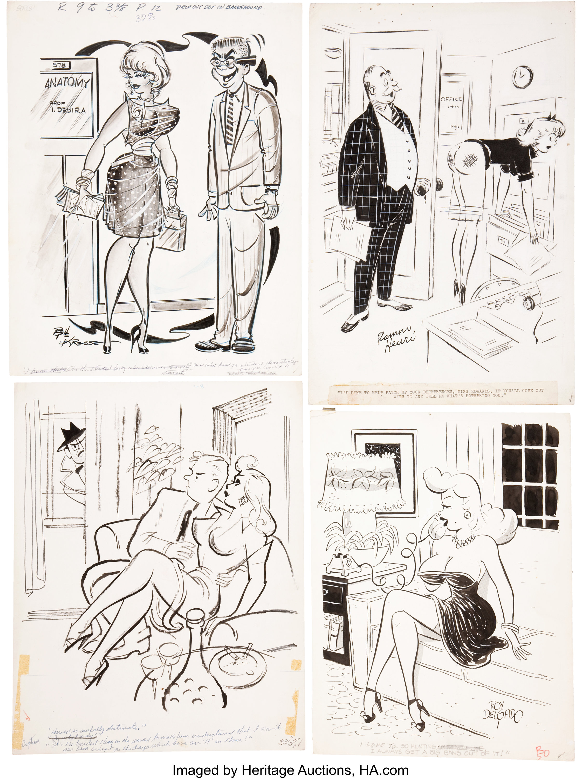 Humorama cartoon original art group humorama 1950s 60s lot 12500 heritage auctions