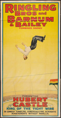 """Circus Poster (Ringling Brothers and Barnum & Bailey, 1930s). Poster (41"""" X 79""""). Miscellaneous"""