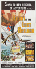 "Movie Posters:Adventure, Flight of the Lost Balloon (Woolner Brothers, 1961). Three Sheet(41"" X 81""). Adventure.. ..."
