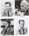 Movie/TV Memorabilia:Autographs and Signed Items, James Stewart, Ray Milland, Pat O'Brien, and William Holden SignedPhotos.... (Total: 4 )