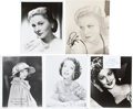 Movie/TV Memorabilia:Autographs and Signed Items, Lillian Gish, Olivia de Havilland, and Other Starlets Signed Photos.... (Total: 5 )