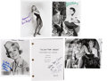 Music Memorabilia:Autographs and Signed Items, Ann-Margret and Other Elvis Girls Autograph Group.... (Total: 6Items)
