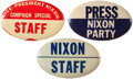 Political:Pinback Buttons (1896-present), Richard Nixon: Three Miscellaneous Oval Nixon Pinbacks From the 1960 Campaign.... (Total: 3 Items)