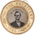 Political:Ferrotypes / Photo Badges (pre-1896), Lincoln & Johnson: Classic 1864 Lincoln & JohnsonFerrotype....