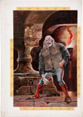Original Comic Art:Covers, Pat Boyette Charlton Horror Comic Painted Cover Original Art(Charlton, undated)....