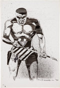 Original Comic Art:Illustrations, Luke McDonnell The Phantom Illustration Original Art(1990)....