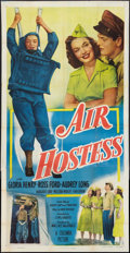 "Movie Posters:Adventure, Air Hostess (Columbia, 1949). Three Sheet (41"" X 81""). Adventure....."