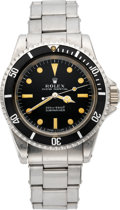 "Timepieces:Wristwatch, Rolex Ref. 5513 Steel Submariner ""Meters First"" With Box &Papers, circa 1965. ..."