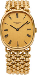 Timepieces:Wristwatch, Patek Philippe Ref. 3648-1 Gold Bracelet Wristwatch, circa 1970's. ...