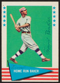 "Autographs:Sports Cards, 1961 Fleer Frank ""Home Run"" Baker #6, Signed...."