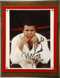 """Boxing Collectibles:Autographs, Muhammad Ali Signed Photograph. The beautifully mounted photograph of Muhammad Ali measures an overall 10x13"""". Ali dominate..."""