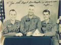 "Autographs:Celebrities, Apollo 1 Signed Color Crew Photograph, 9.5"" x 7"", inscribed ""ToJoe the biggest boondoggler in NASA & USAF/ VG/ Gus Grisso...(Total: 1 Item)"