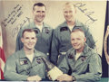 "Autographs:Celebrities, Gemini 8 Signed Color Prime Crew & Back-Up Crew Photograph, 9.5"" x 7, inscribed ""To Joe with many thanks/ for keeping us i... (Total: 1 Item)"