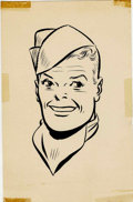 Original Comic Art:Miscellaneous, Milton Caniff - Terry and the Pirates Portrait Print, Group of 2(undated).... (Total: 2 Items)